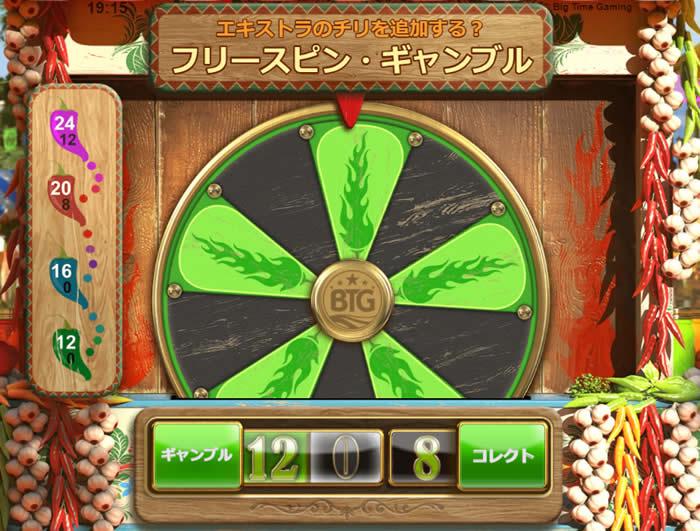 エクストラチリスロットのギャンブル